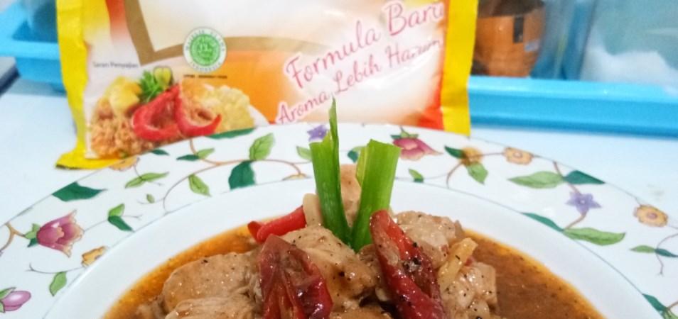 #YummyXPalmia Ayam Lada Hitam ala Fanni