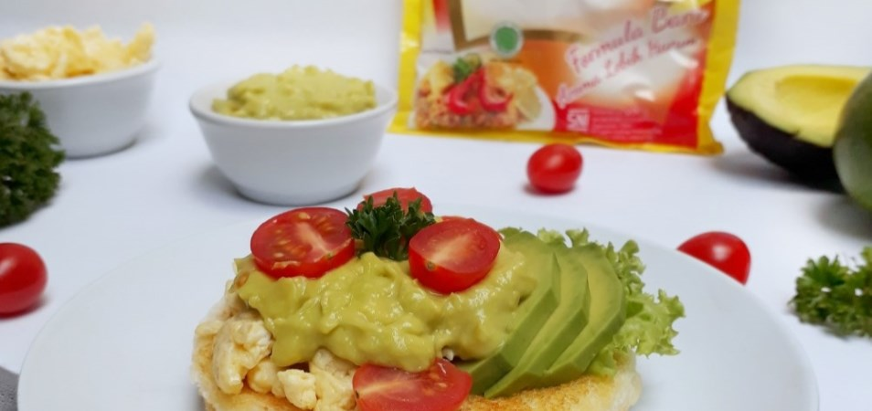 Scramble Avocado Bruschetta