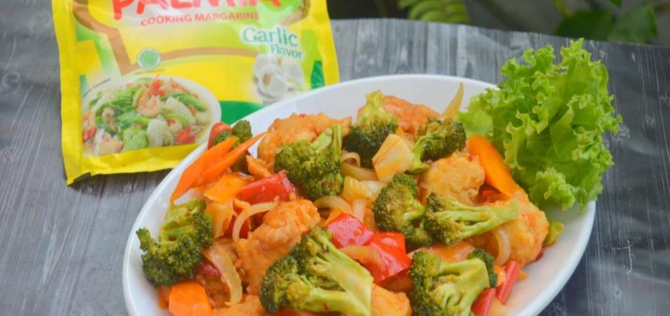 Ayam Tumis Merah Brokoli