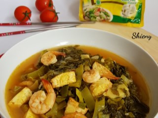 Tumis Sayur Asin Tofu Udang