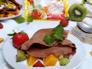 Tropical Chocolate Crepes