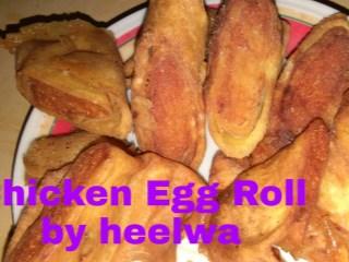 Egg chicken Roll