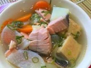 Sop Ikan Salmon