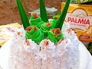 Lapis Dadar Pandan Cake