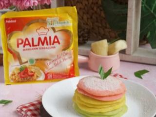 Pancake Singkong Pelangi